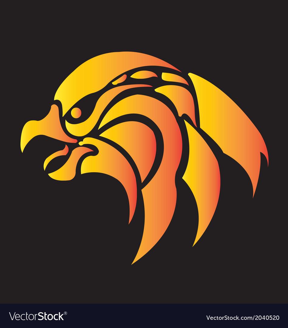 Fire eagle head symbolic design freedom con vector
