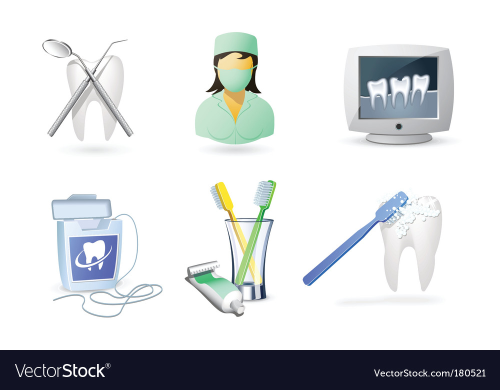 Medical icons set  dentistry vector