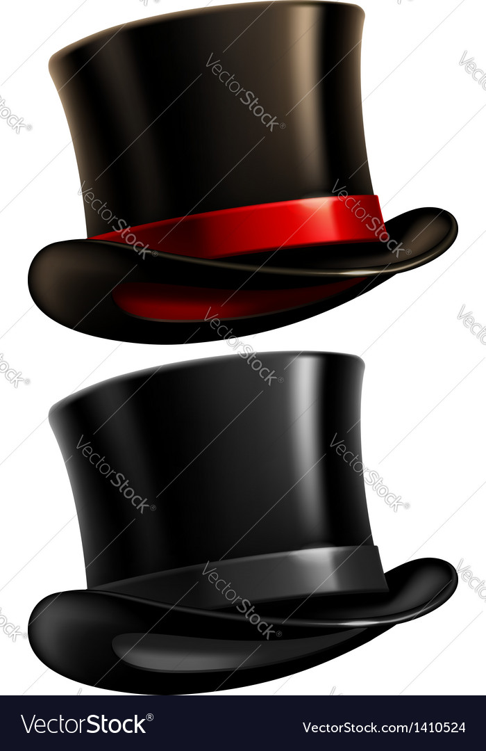 Gentleman top hat vector