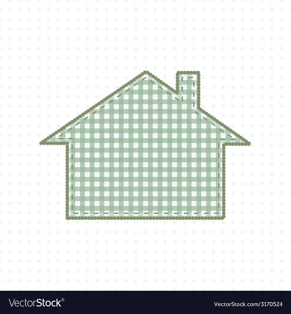 House of fabric handmade work cute baby style vector