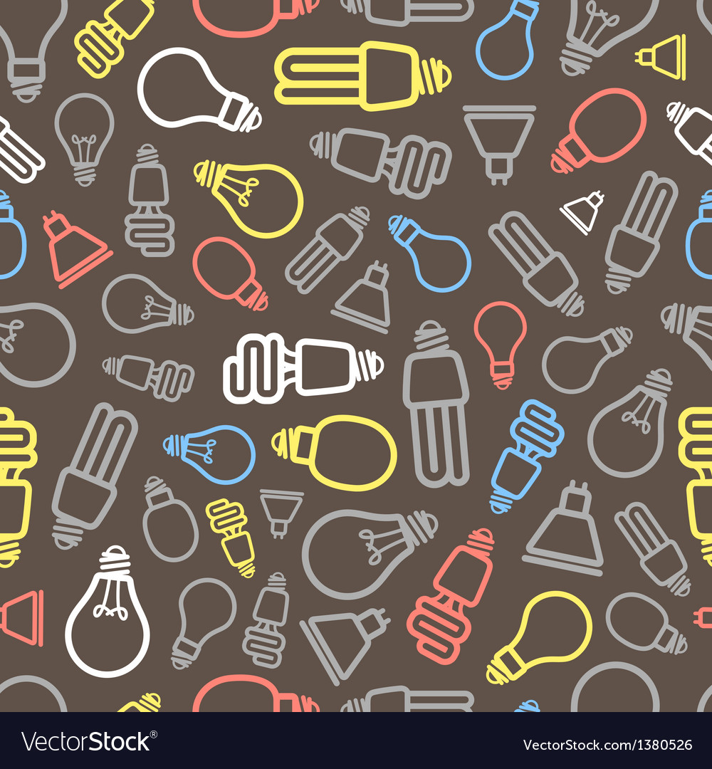 Lighting lamps seamless background vector