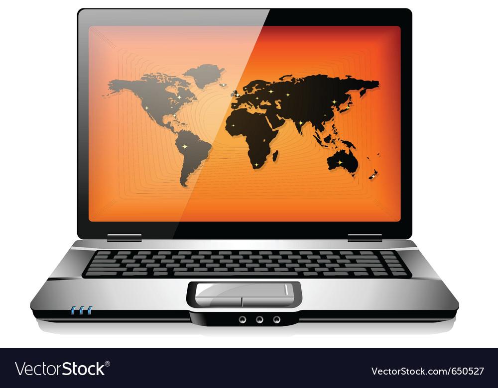 Portable laptop notebook computer vector