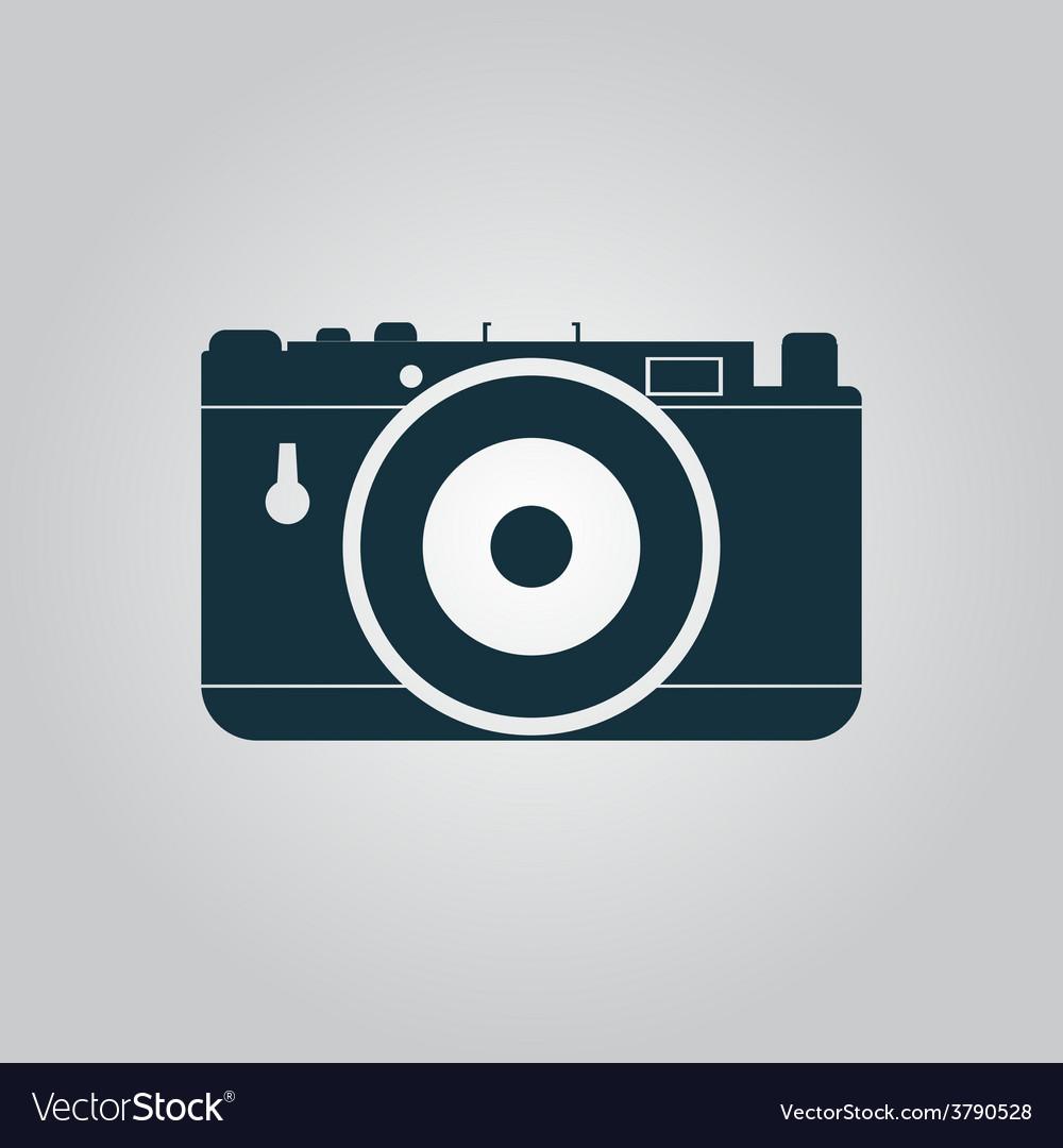 Photo camera icon sign and button vector