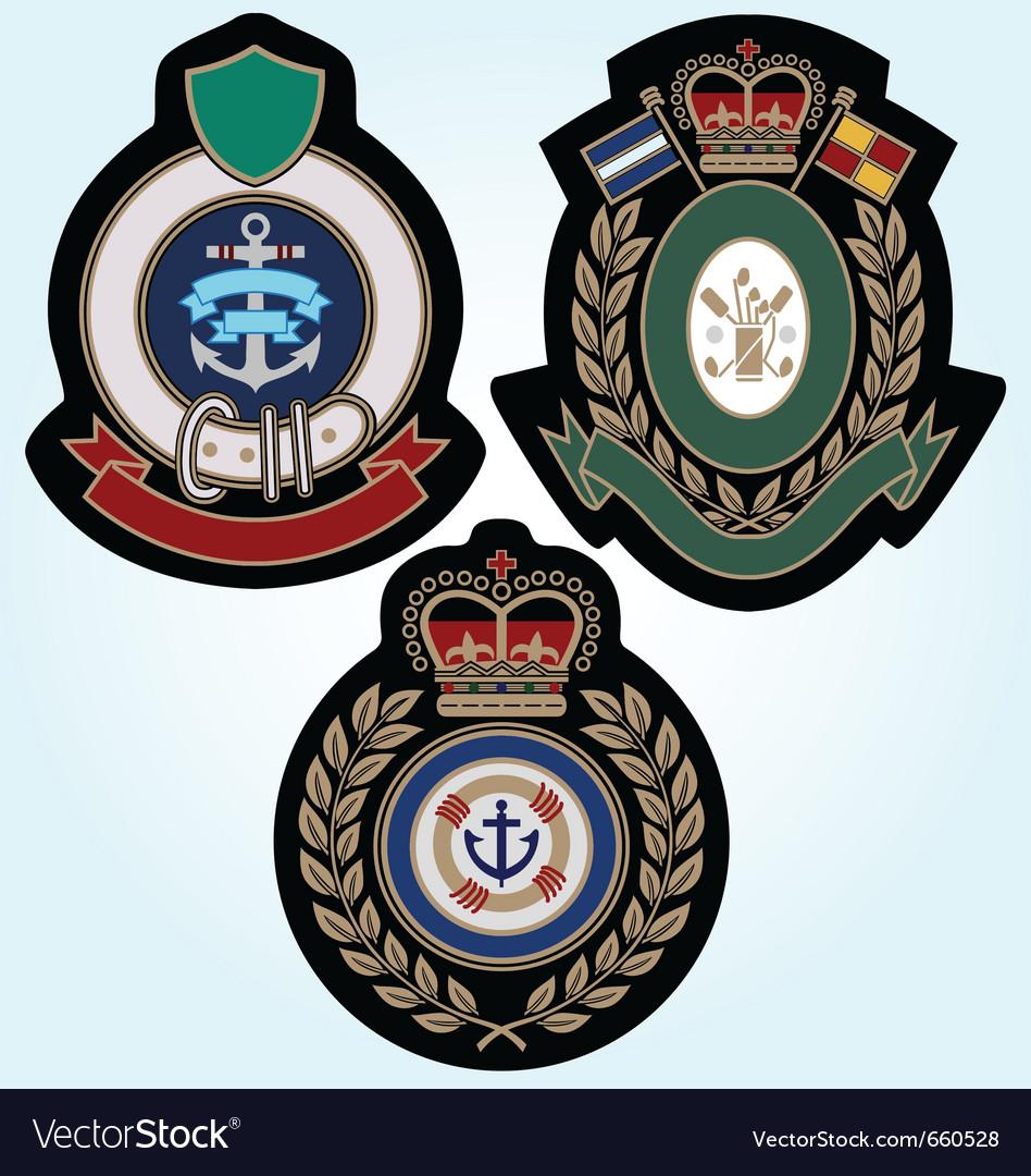 Royal sport classic badge vector