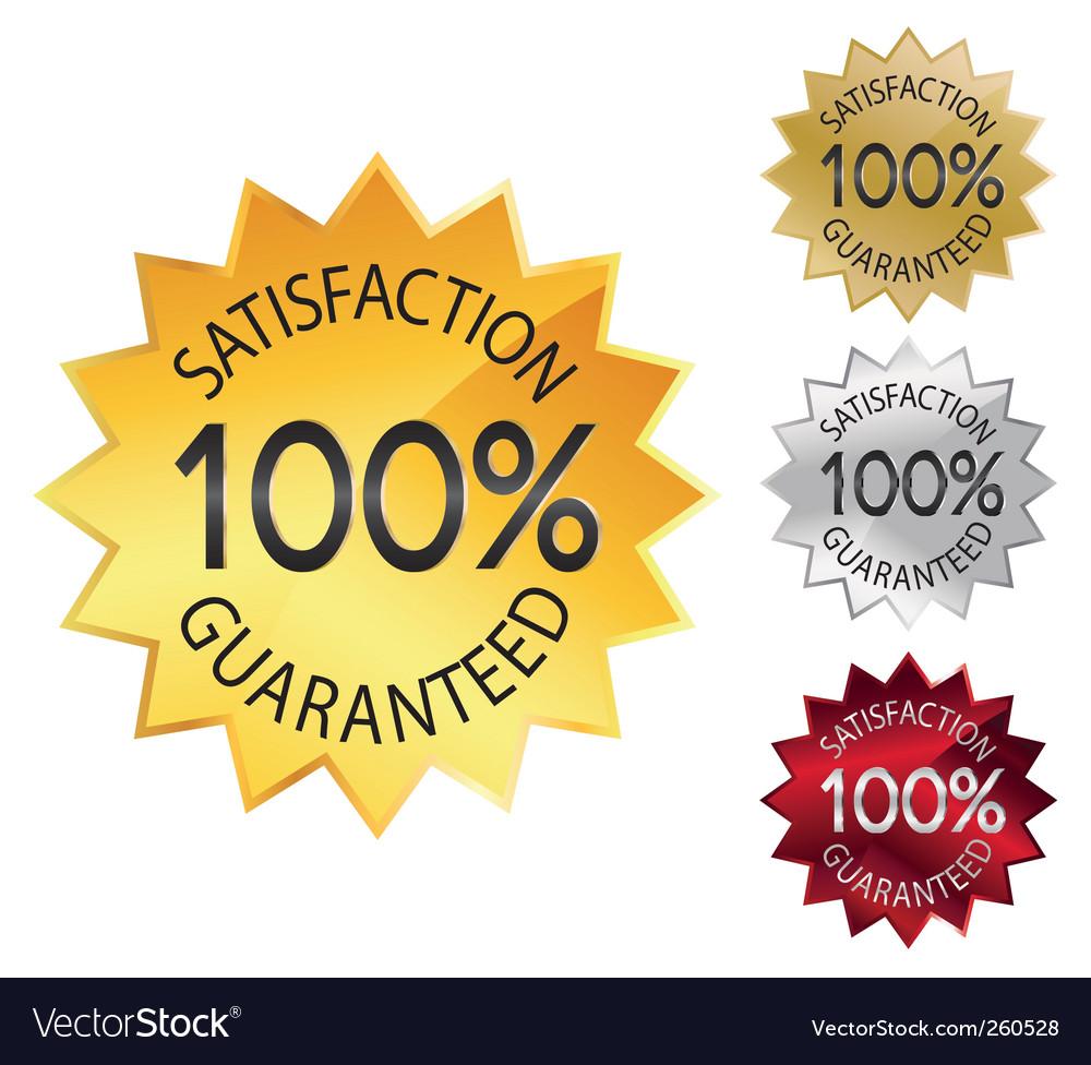 Seal 100% guarantee vector