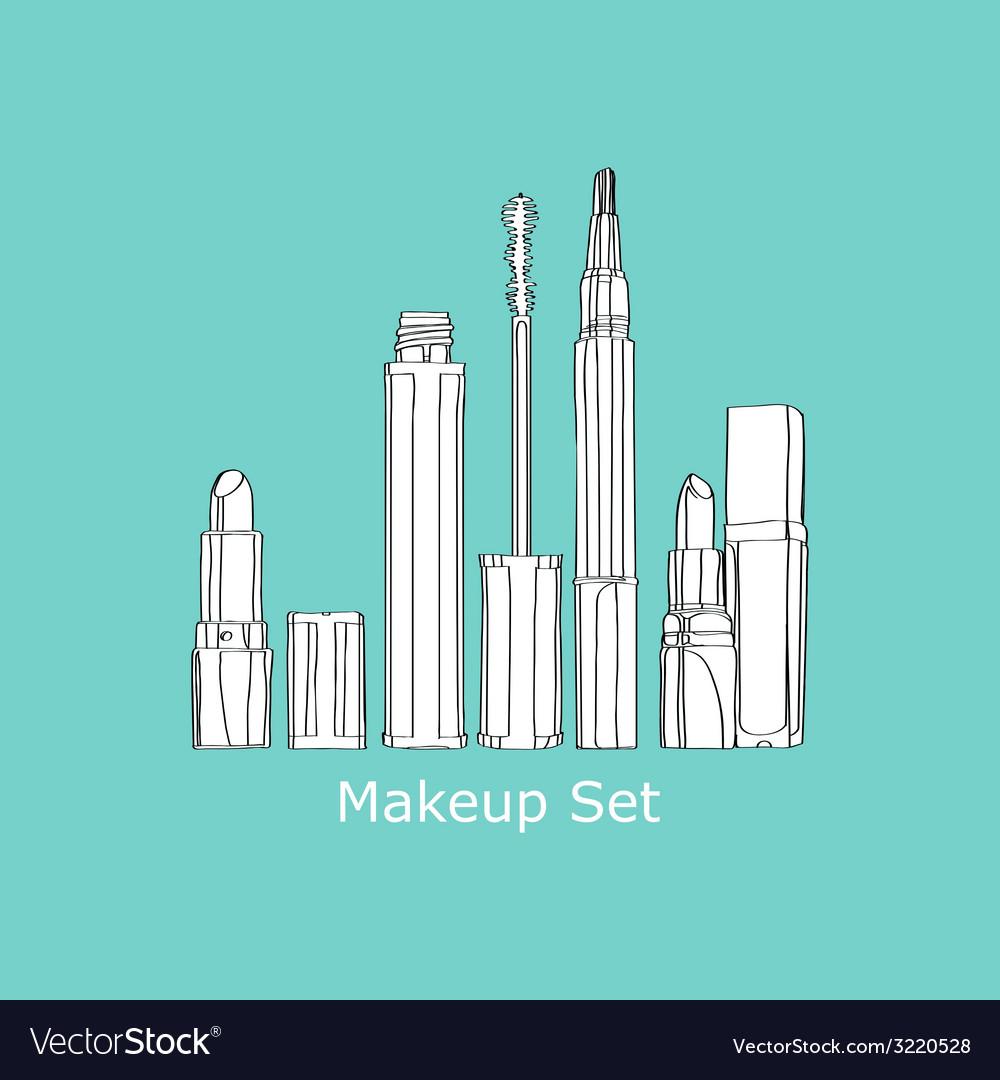 Set of cosmetics vector