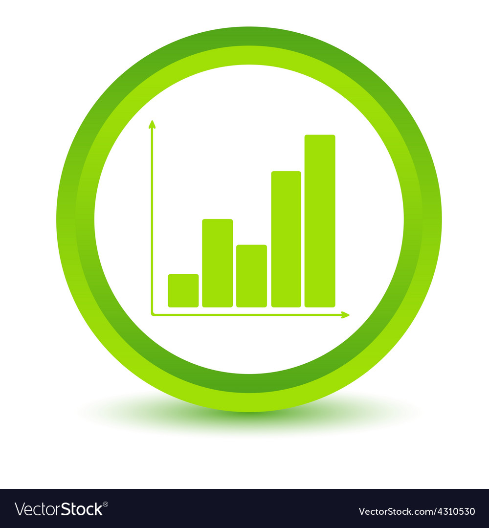 Green chart icon vector