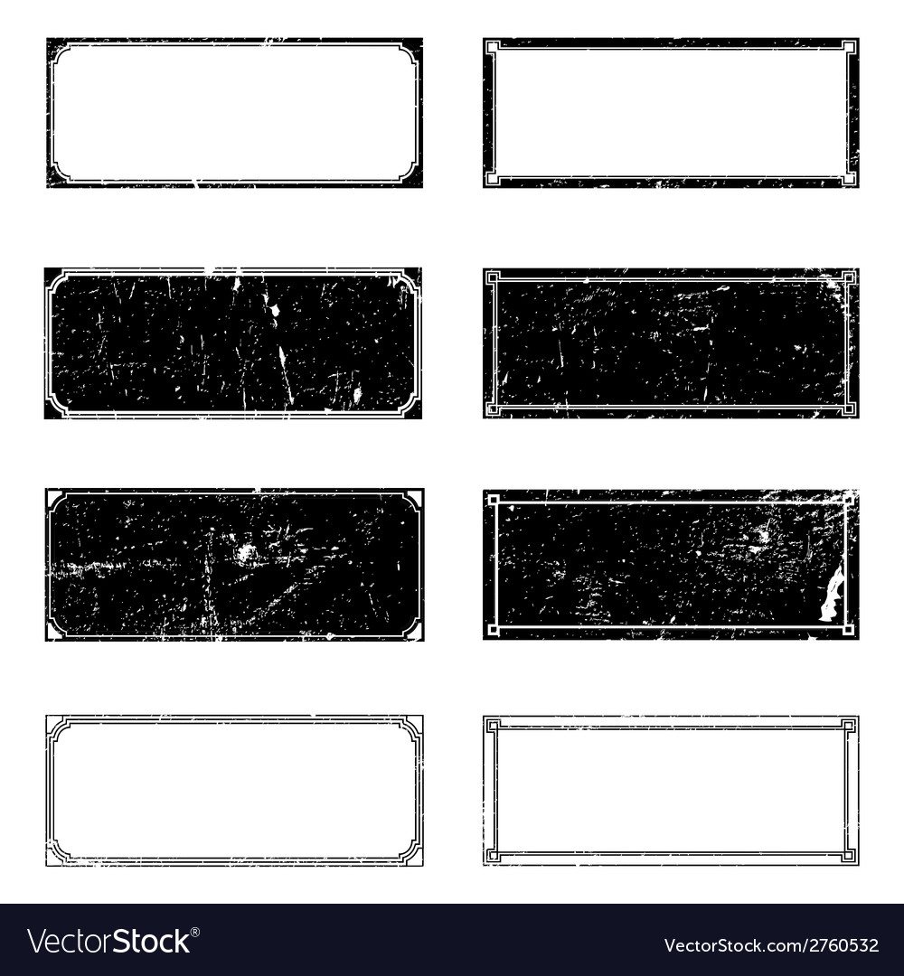Grunge rectangle frames vector