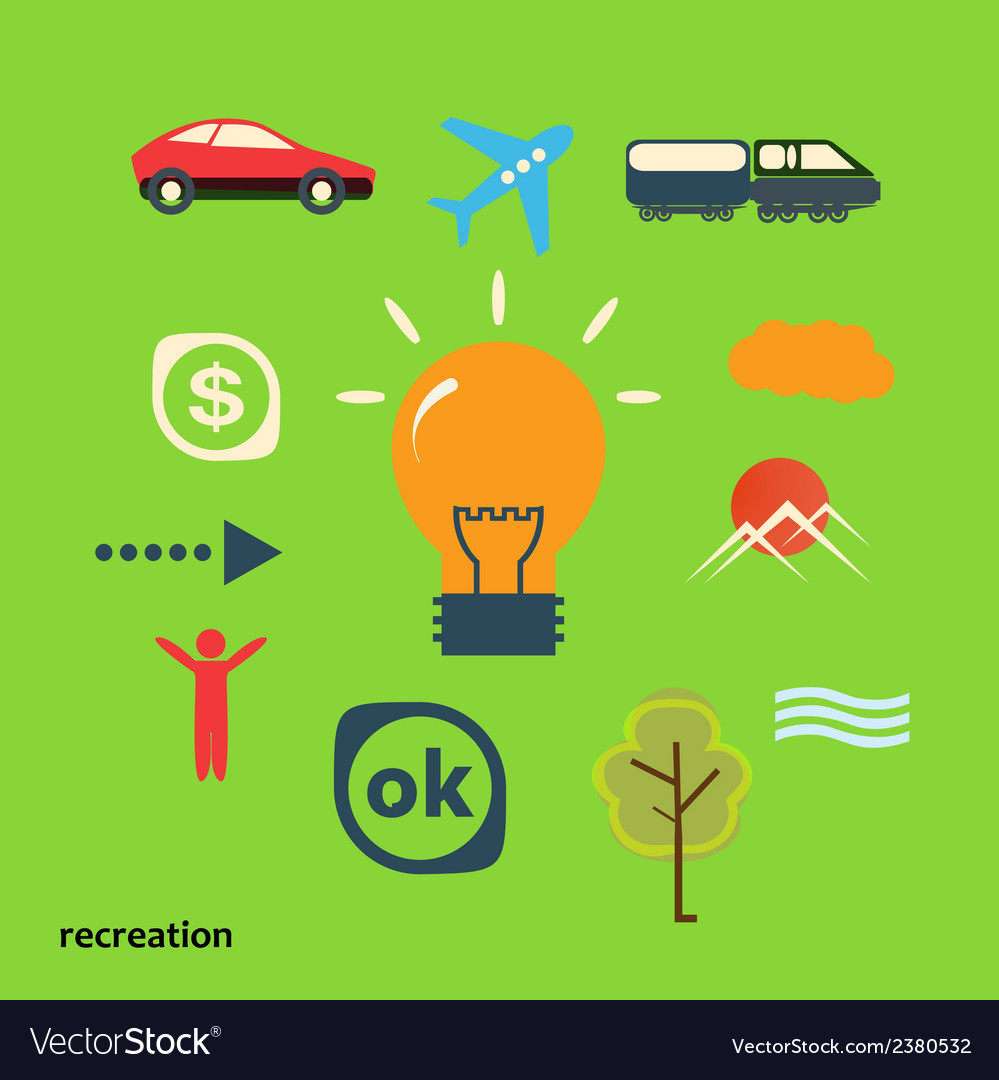 Set icons journey from idea vector