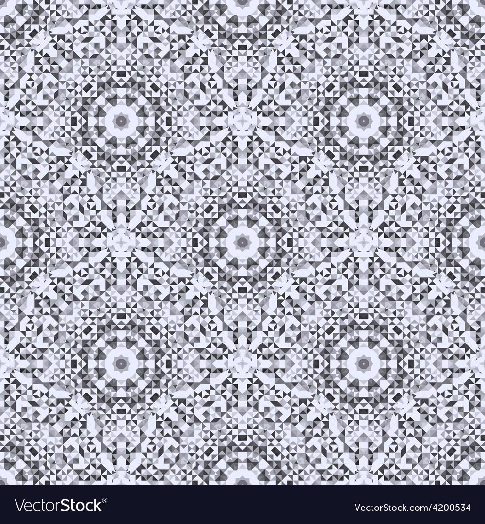 Mosaic texture for textile print vector