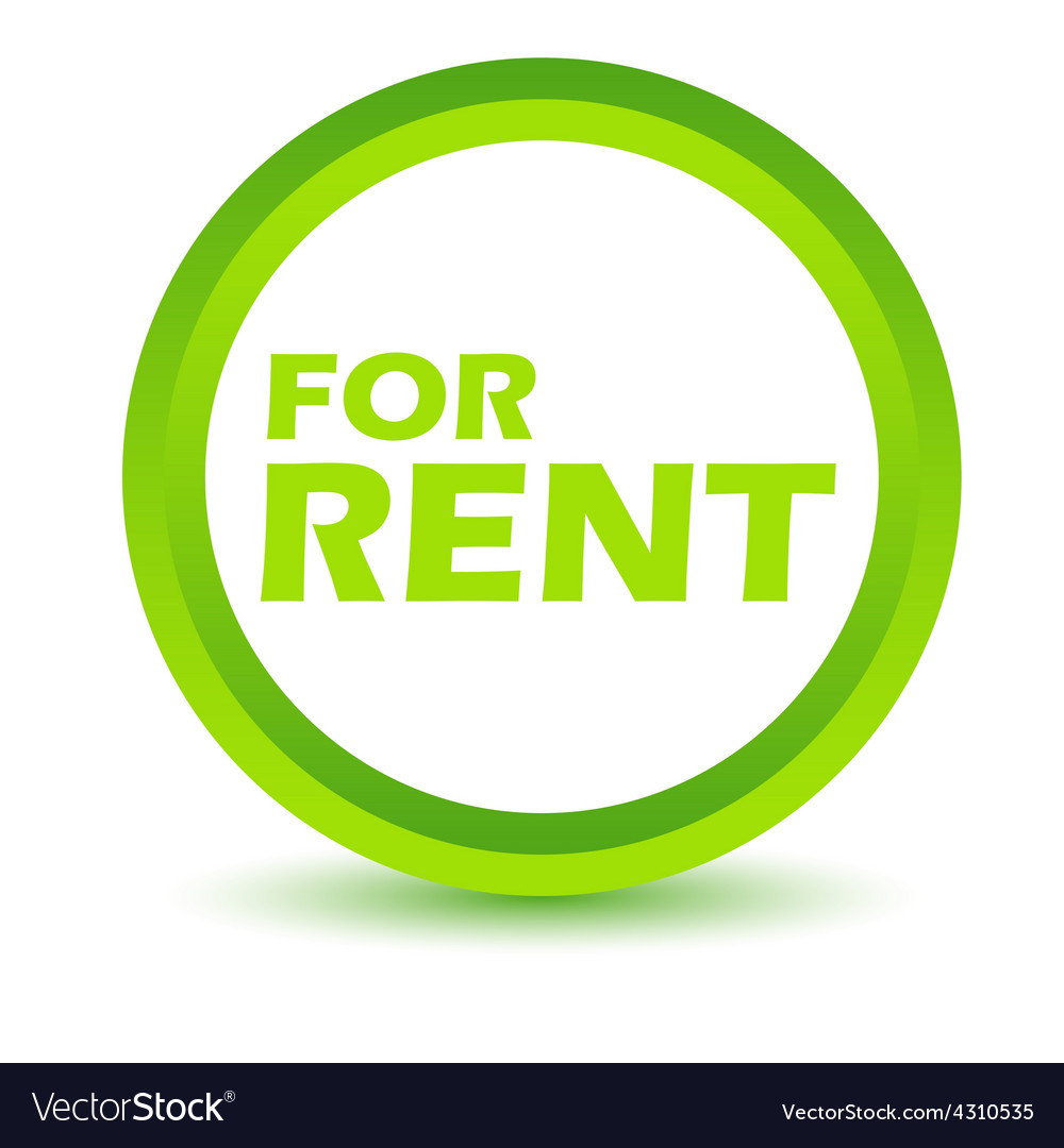 Green rent icon vector