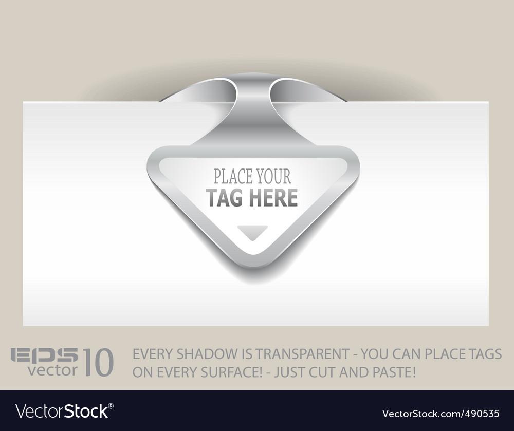 Paper arrow tag vector