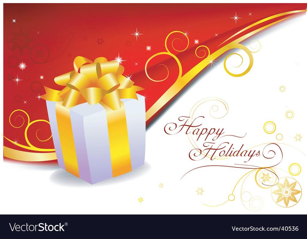 Holiday gift vector