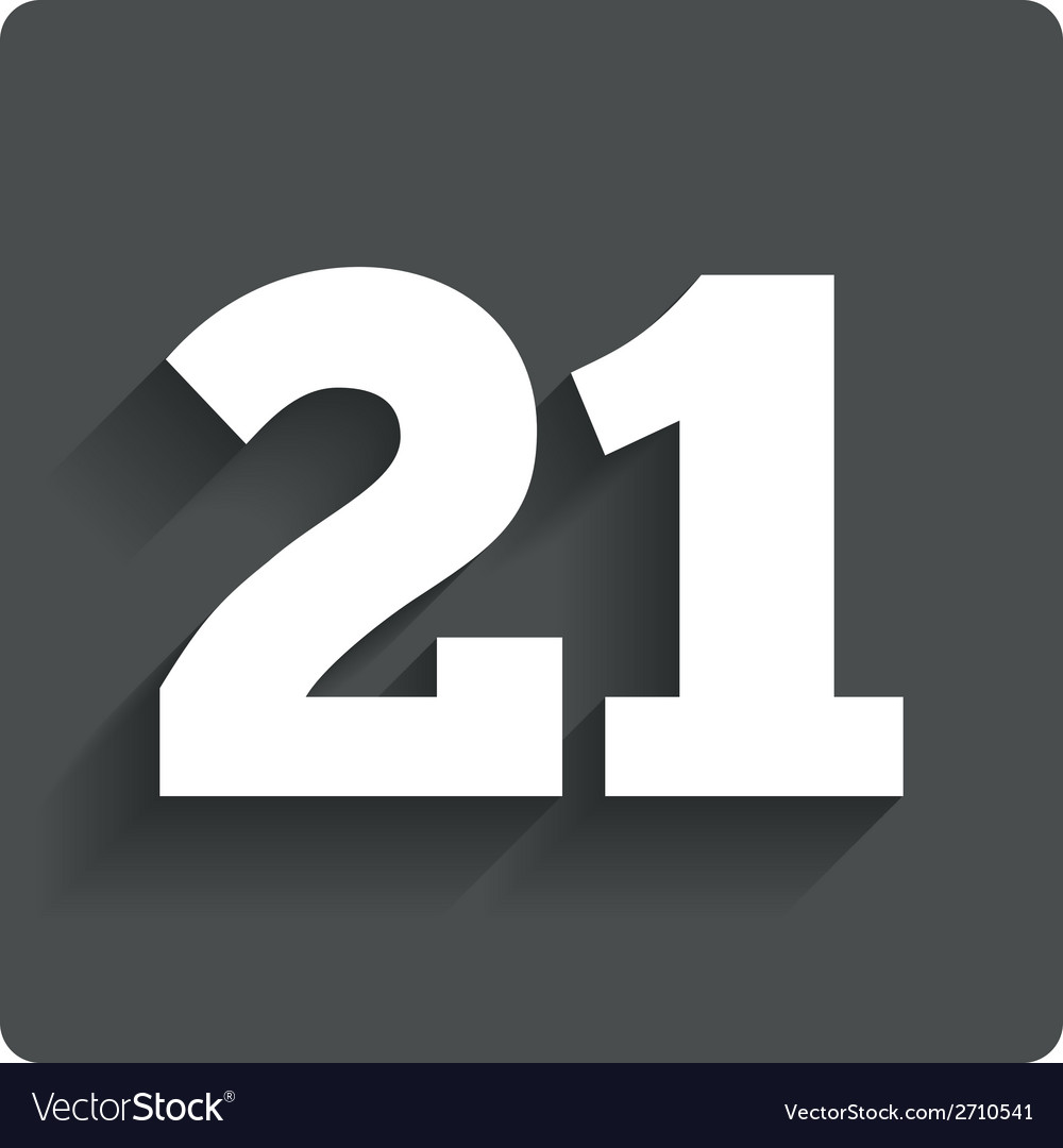 21 years old sign adults content vector