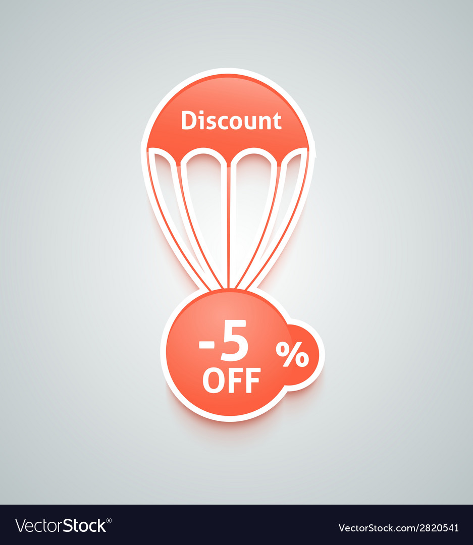 Discount parachute set vector