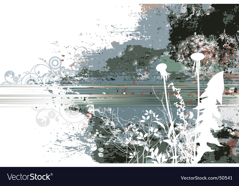 Spring meadows dirty background vector