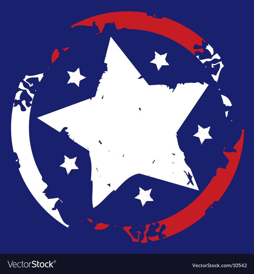 American stars and stripes symbol vector