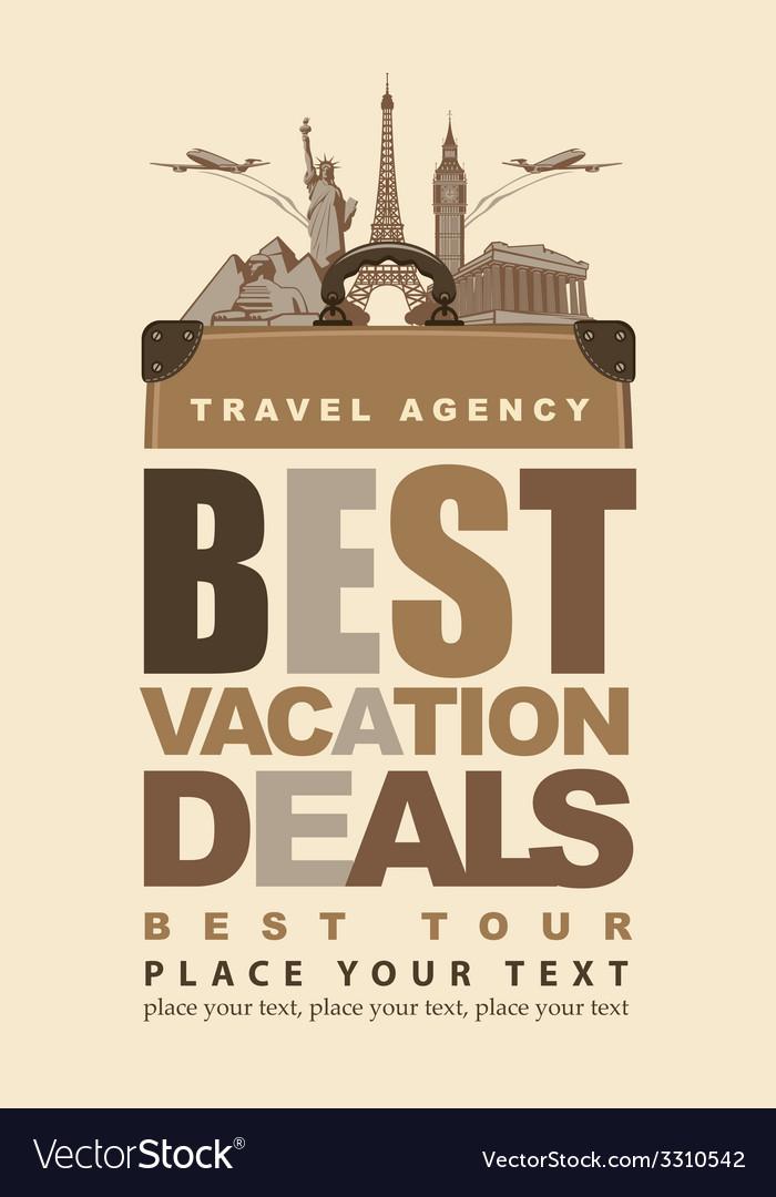 Travel agency vector