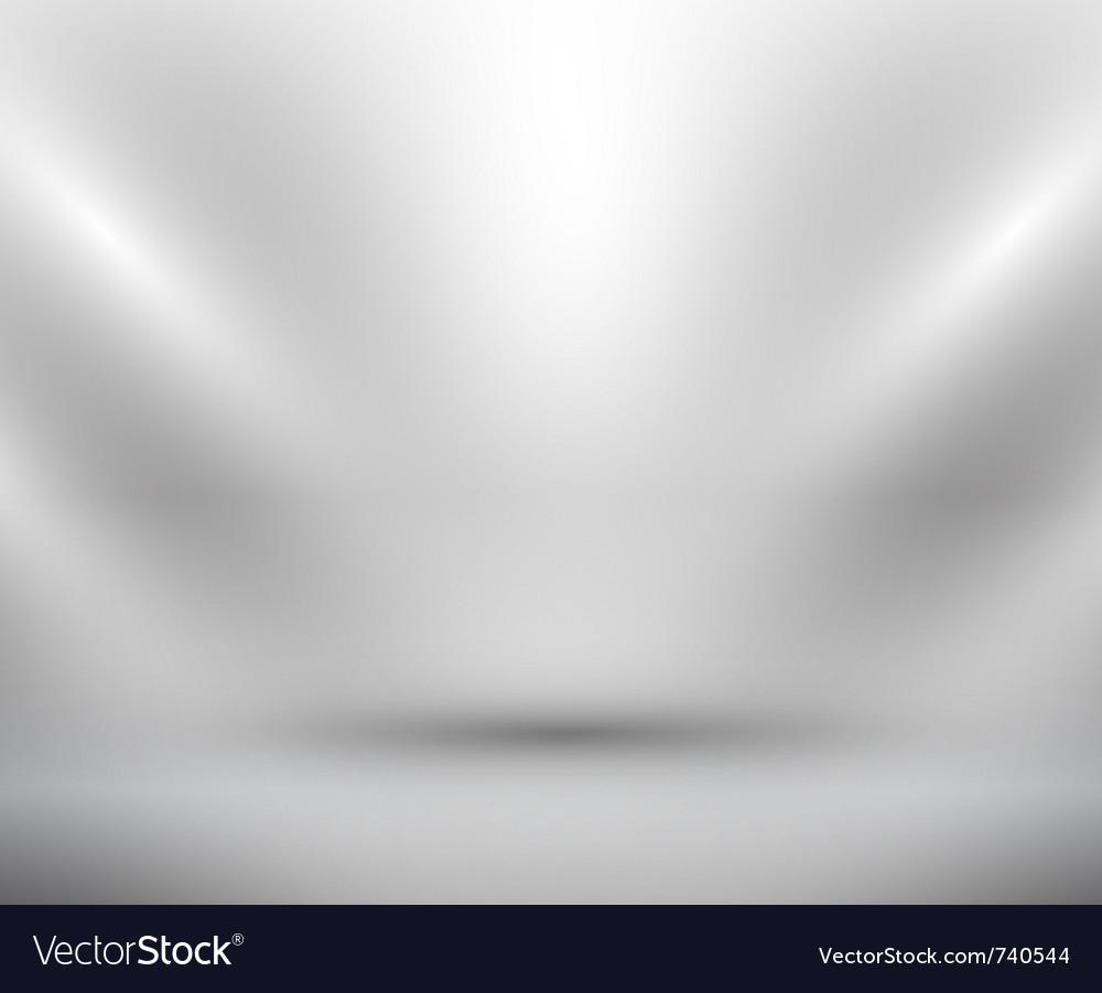 Blank light room white vector
