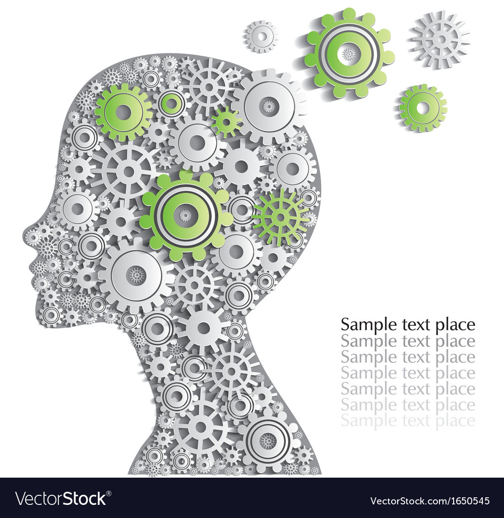 Head of person is full of fine ideas creative car vector