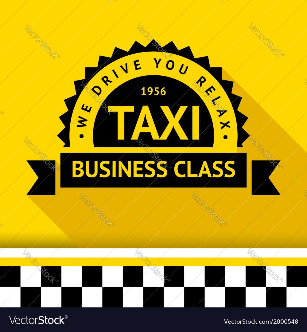 Taxi badge 09 vector