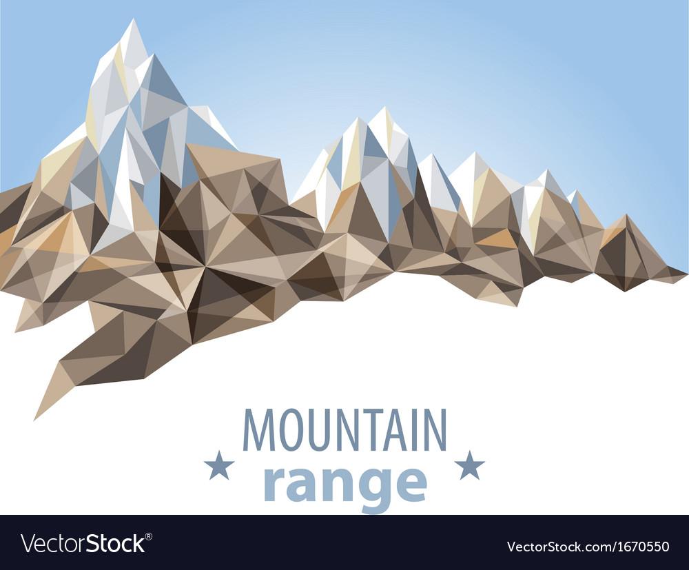 Mountain range vector