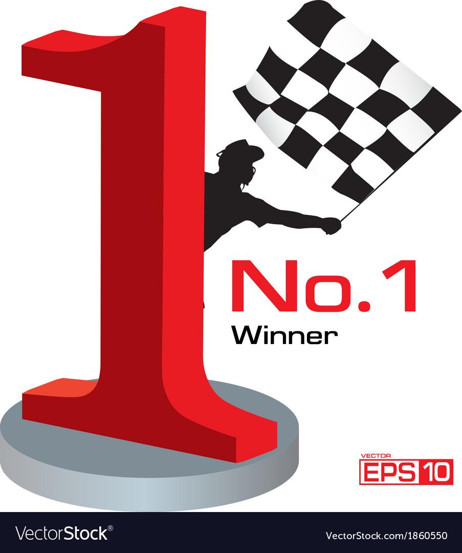 Trophy winner number 1 vector