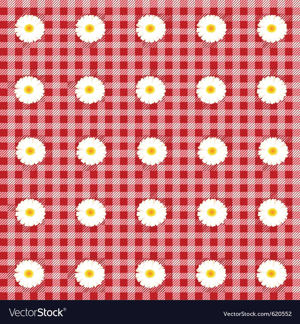 Flower table cloth vector