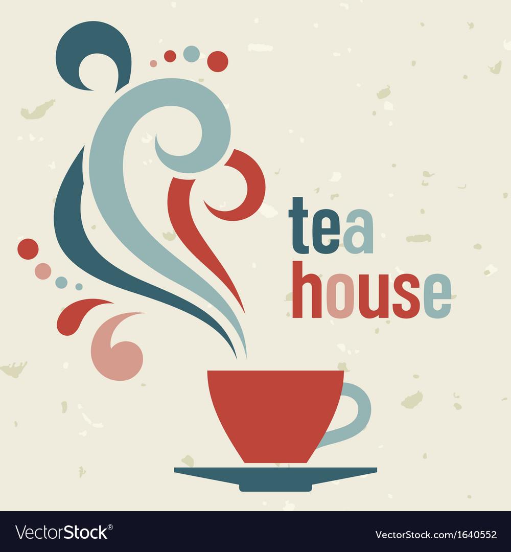Tea house vector