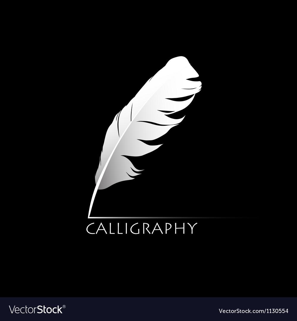 Calligraphic pen vector