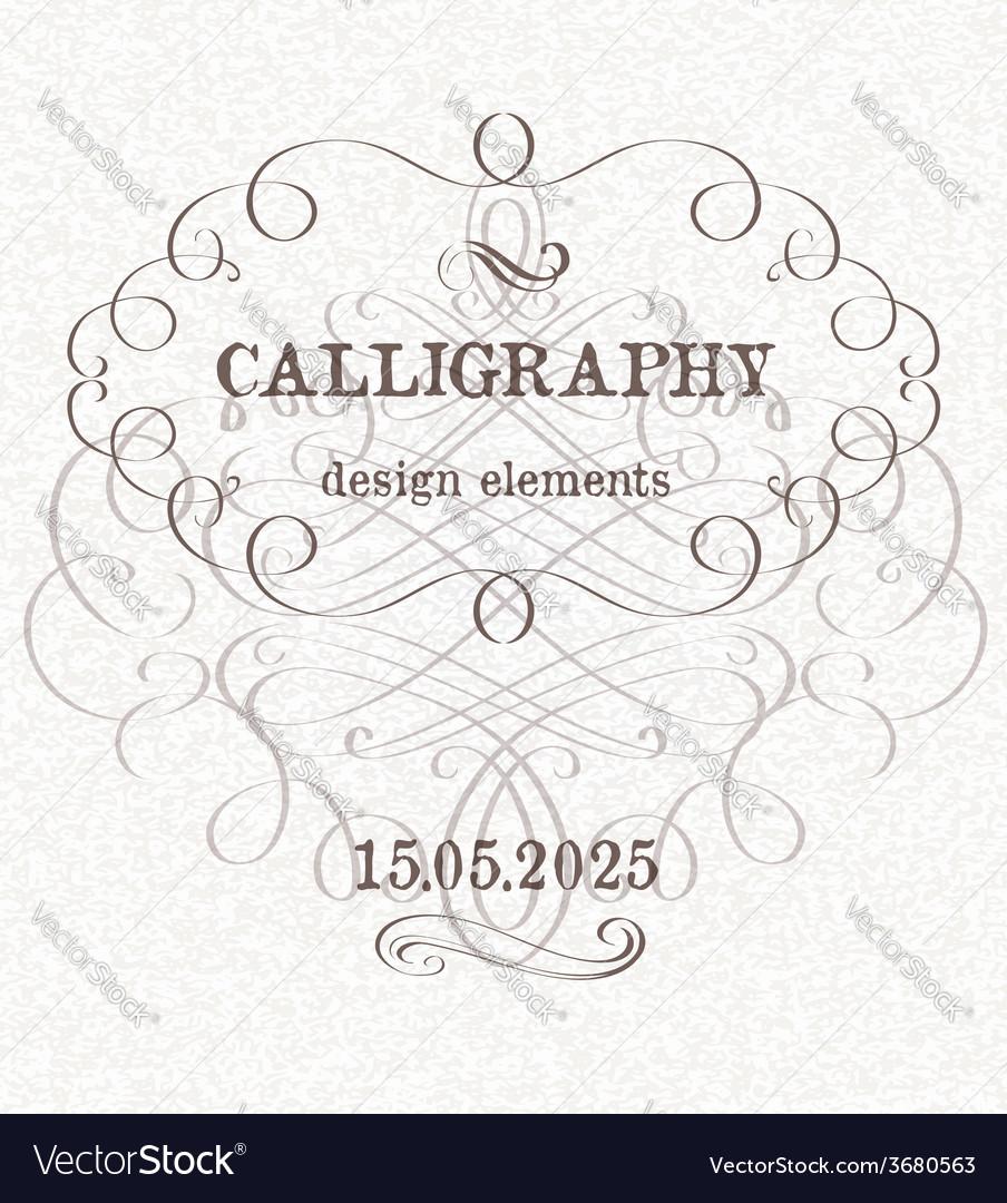 Page decoration template vintage frame vector