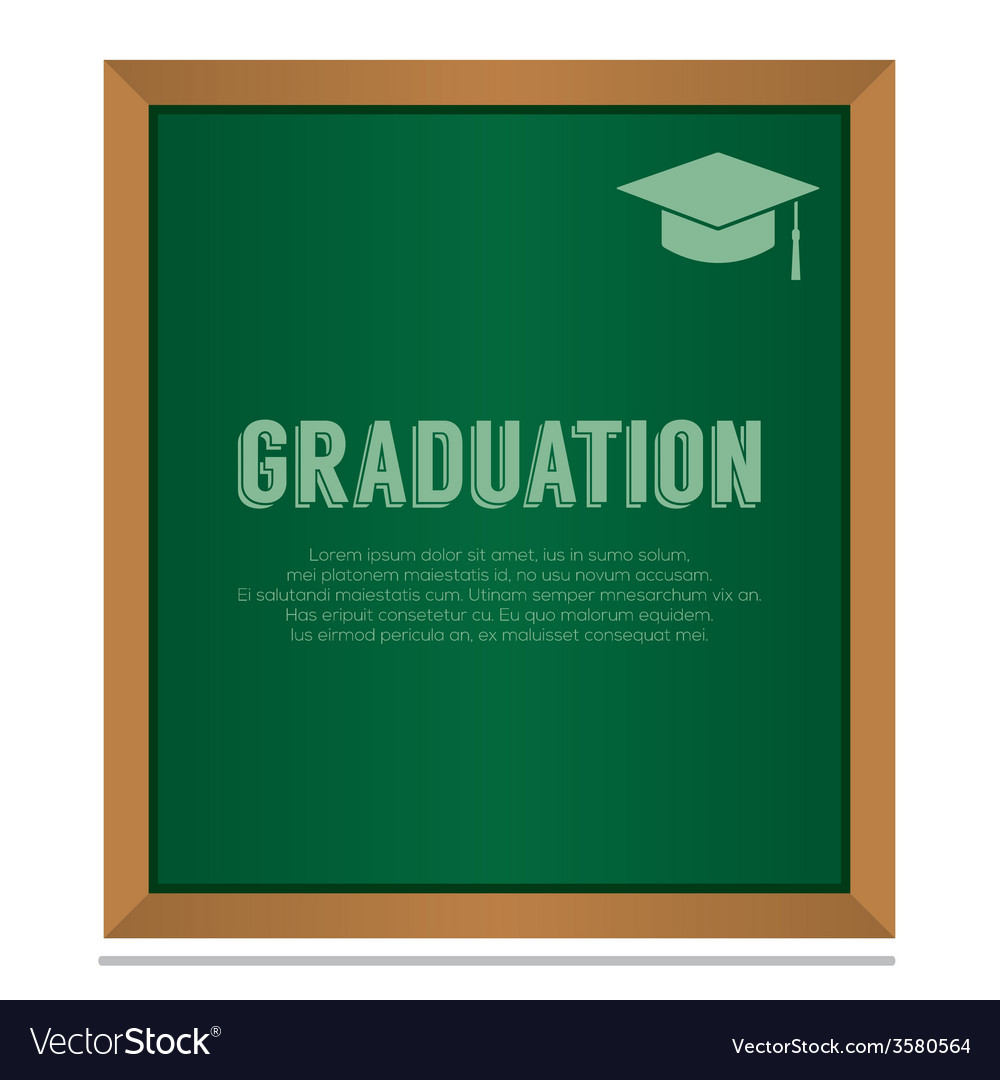 Graduation on board education concept vector