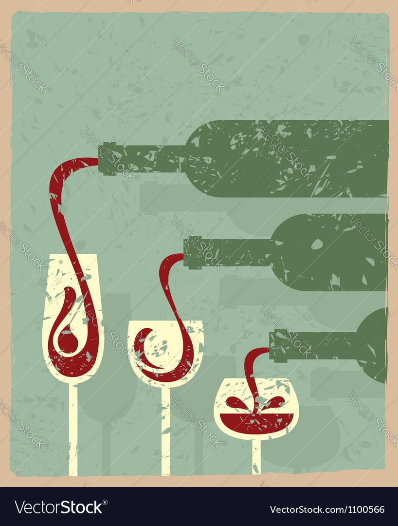 Bottles and glasses vector