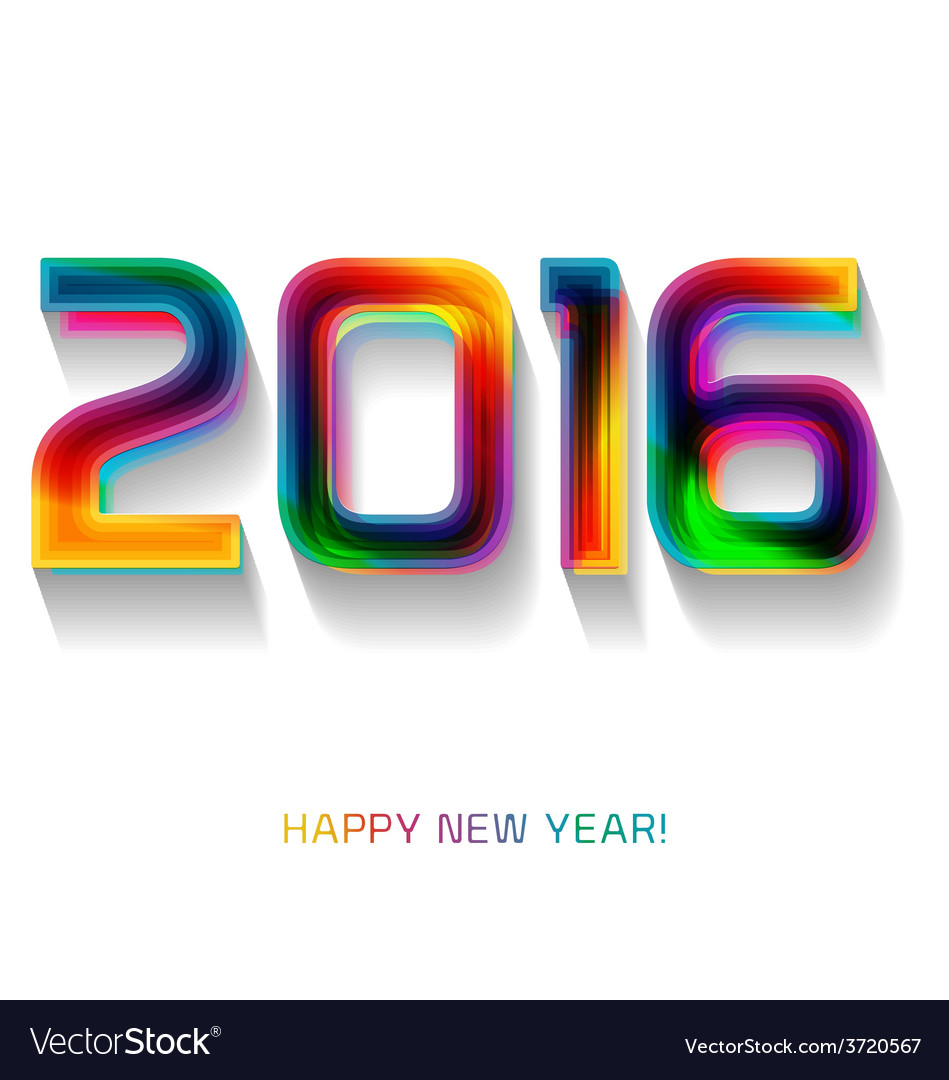 Happy new year 2016 celebration background banner vector