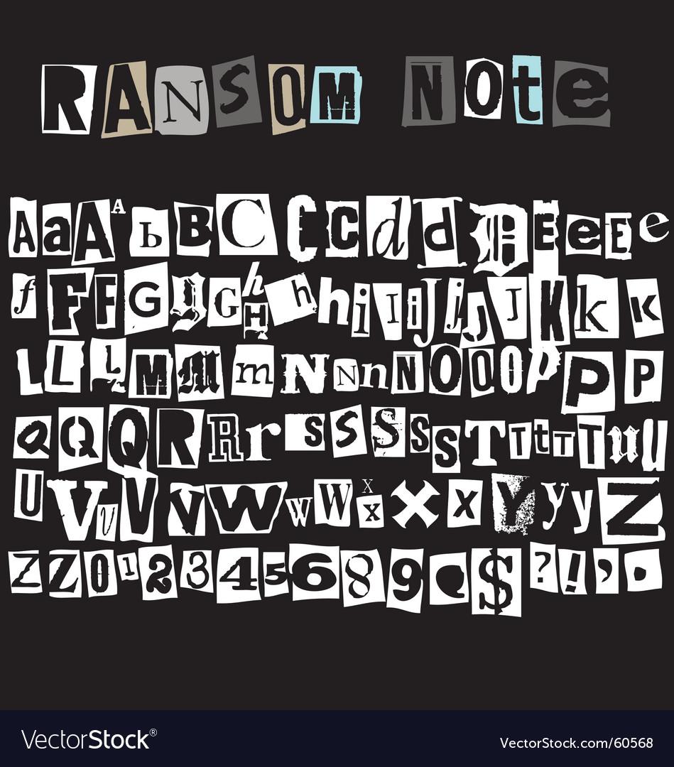 Ransom note vector