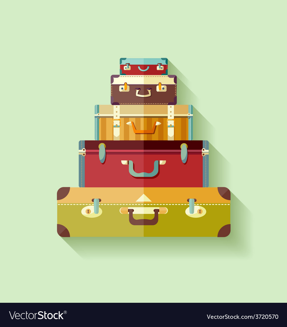 Mountain suitcases vector