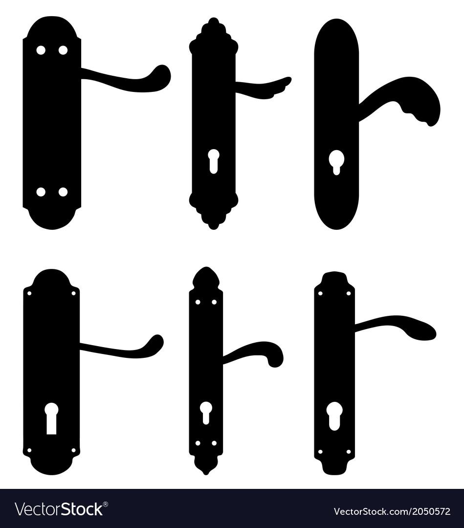 Door knobs vector