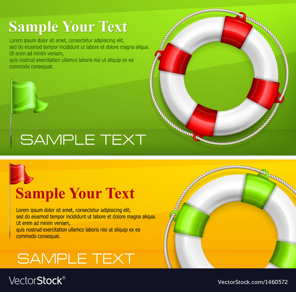 Life buoy on color vector