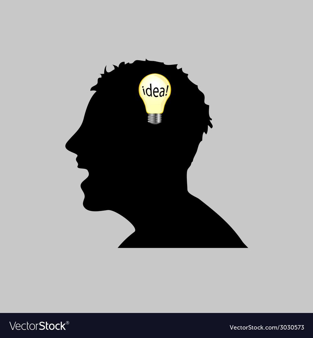 Idea in man head vector