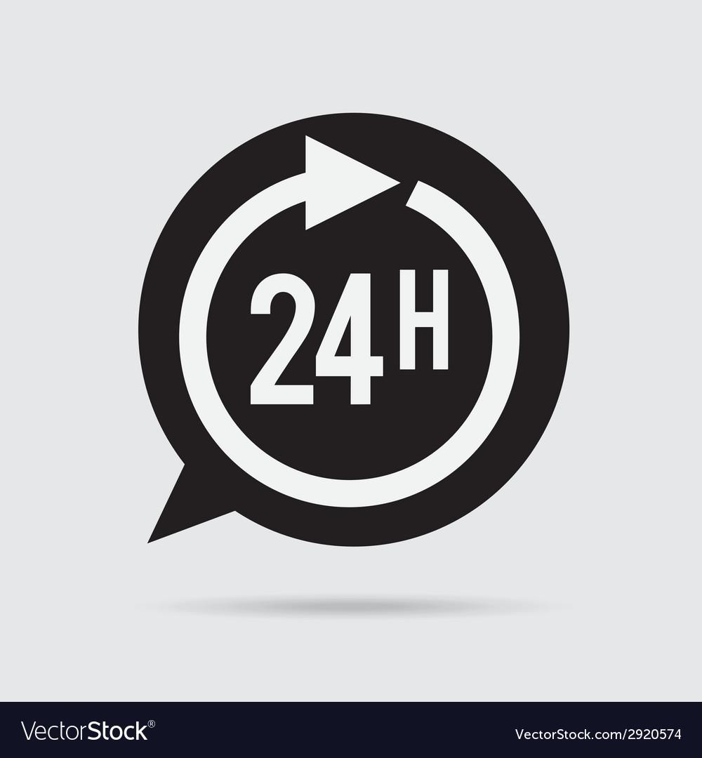 24 hours vector