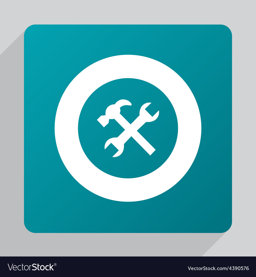 Flat repair icon vector