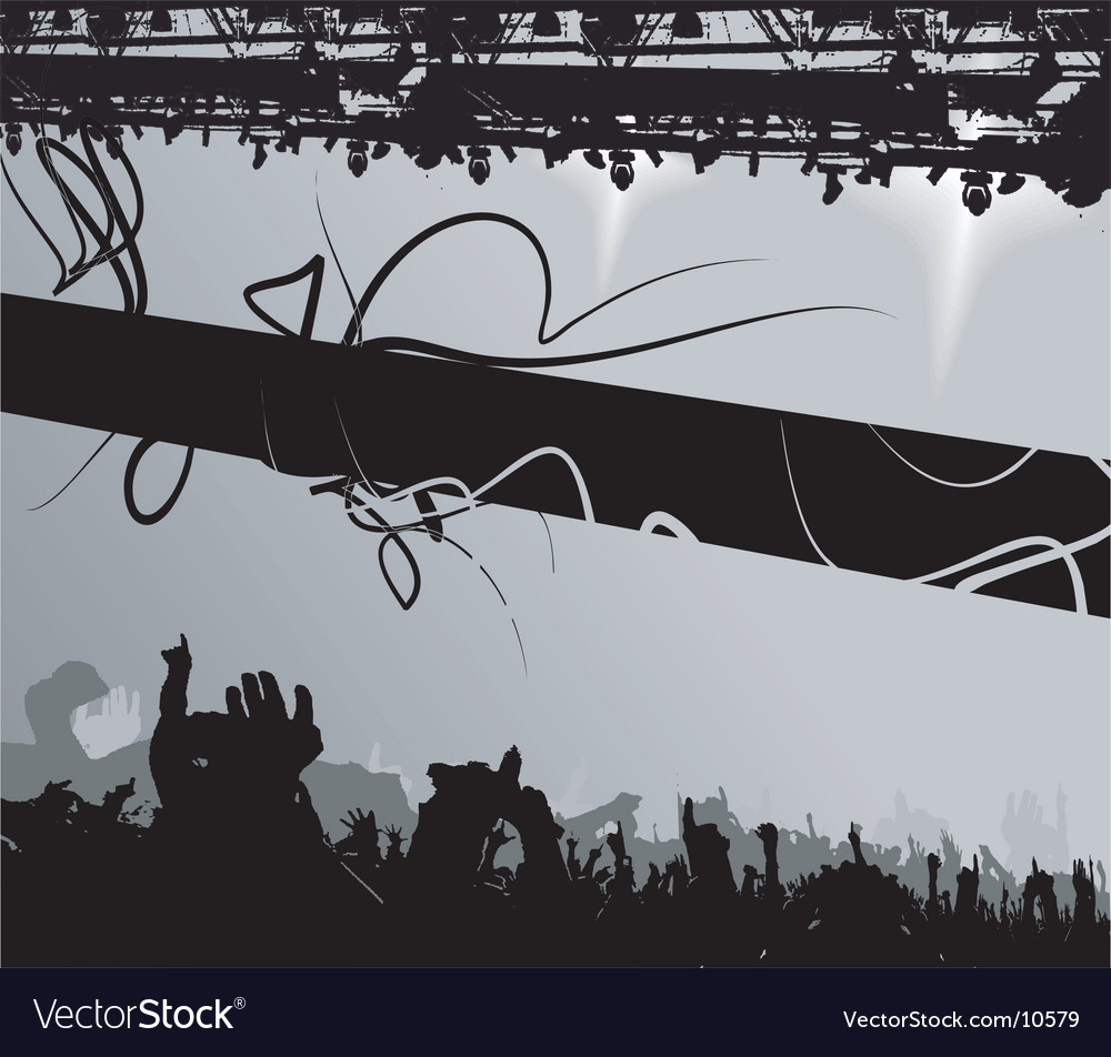 Show crowd silhouette banner vector