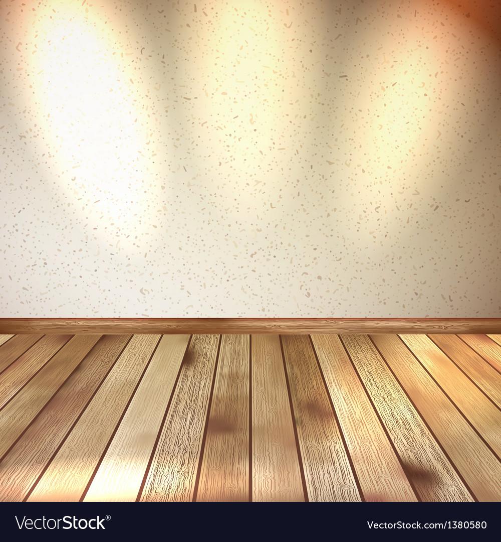 Vintage wooden room floor eps 10 vector