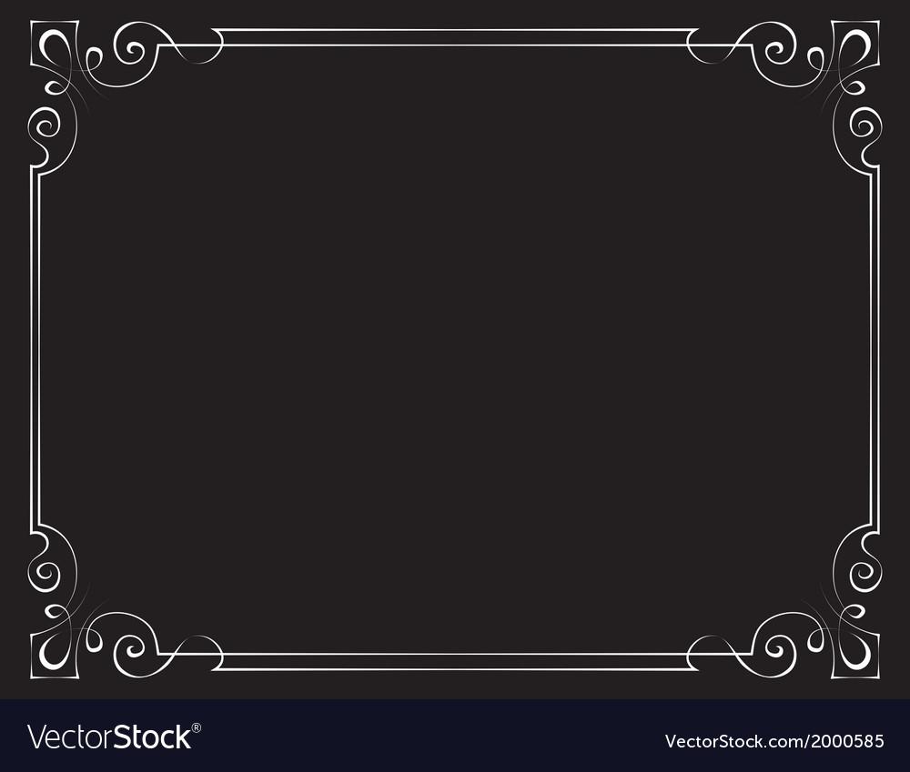 Vintage frame on a black background vector
