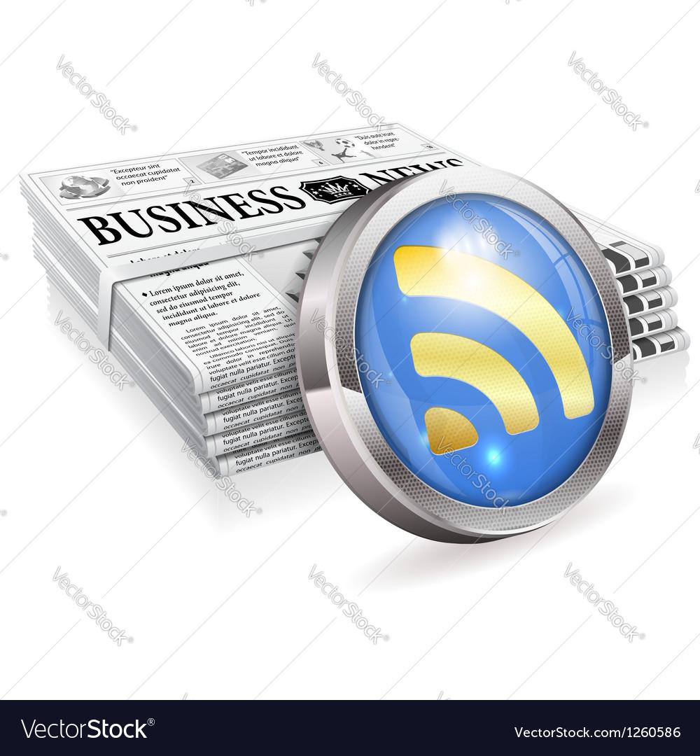 Digital news concept vector