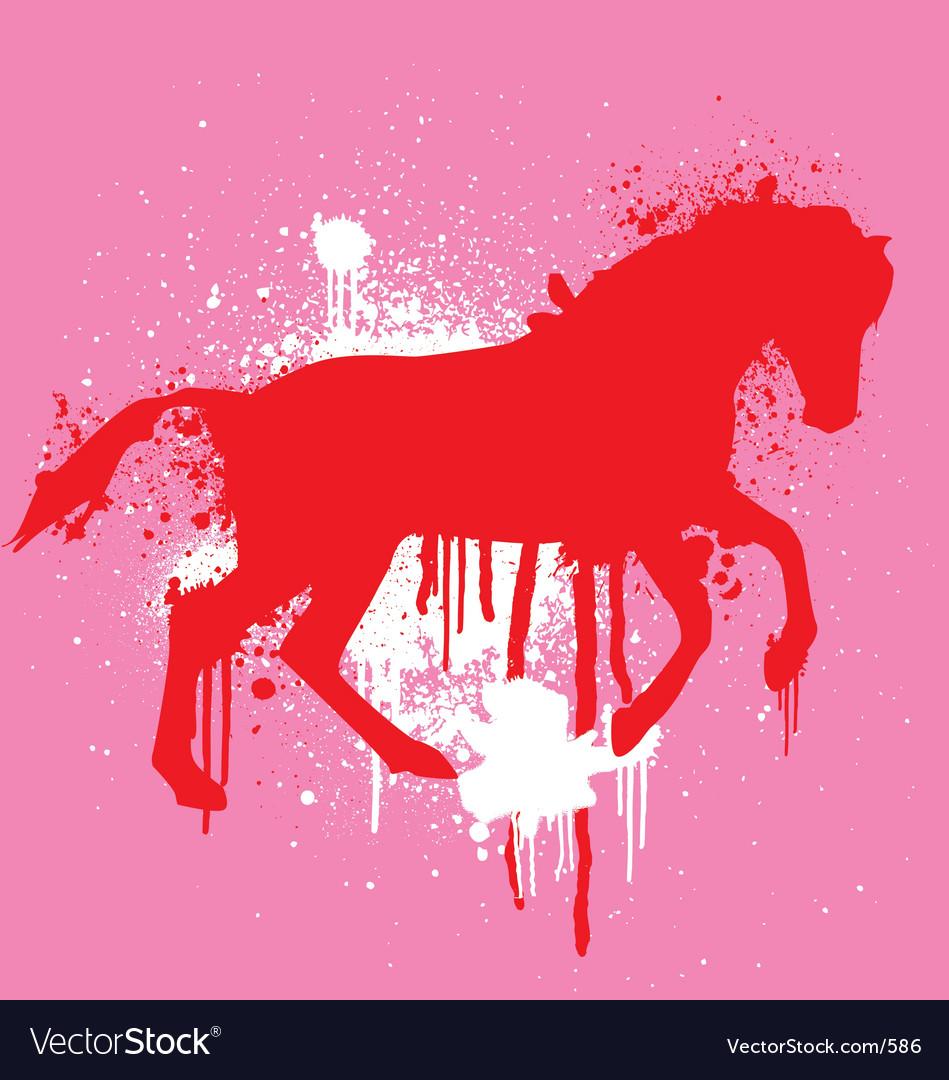 Stencil horse vector