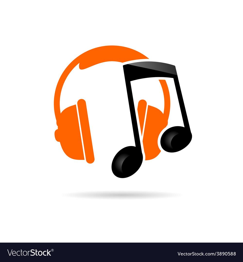 Headphone music color vector
