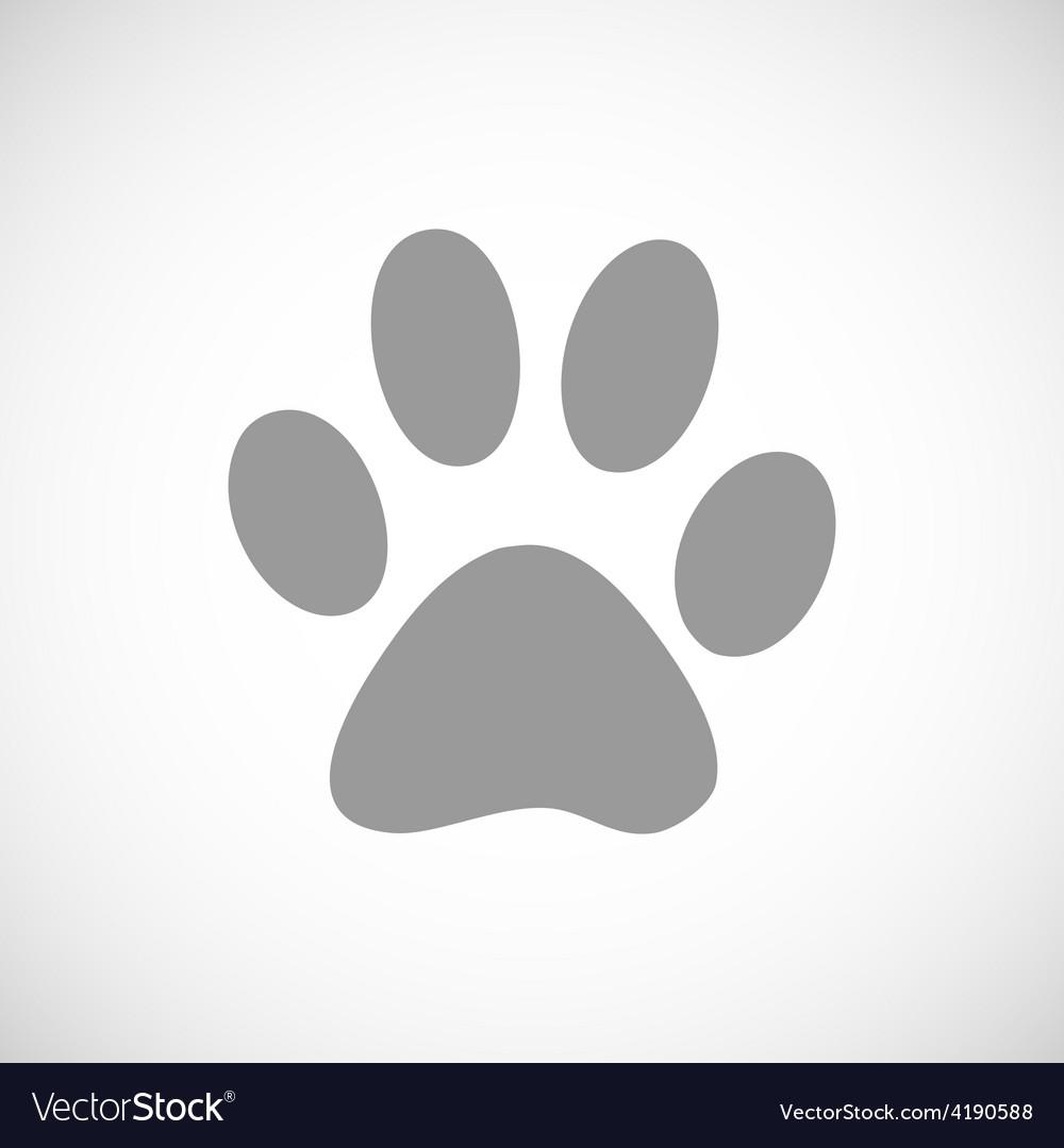 Paw black icon vector