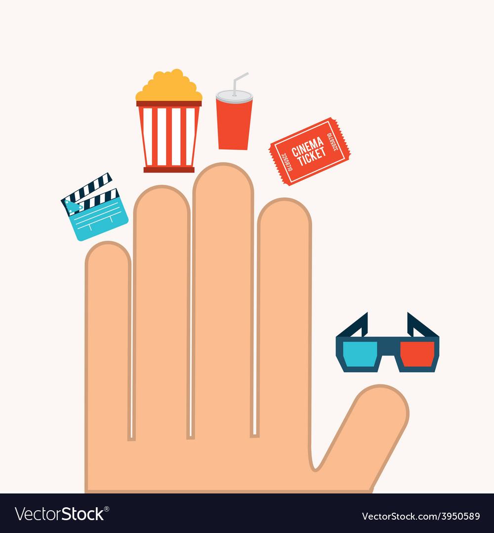 Cinema concept vector