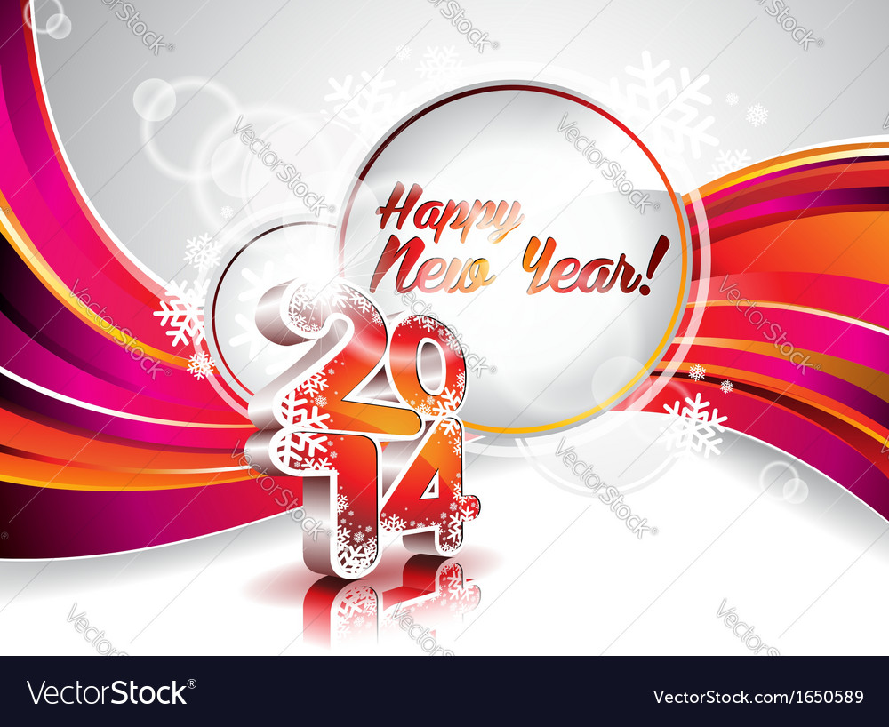 New year 2014 colorful celebration background vector